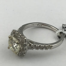 14K White Gold .69CT Diamond Ladies Engagement Ring Sz. 6.75, New item #R8104B4813
