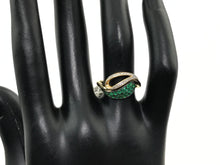 Ladies Solid 14K Yellow Gold 1/3 CT Emerald and Diamond Engagement Ring, New item, #22354310