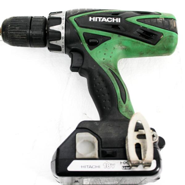 Hitachi DV18DSFL 18-Volt Lithium-Ion Cordless Hammer Drill, this is pre-owned item, this is Pre-Owned Item #339021B
