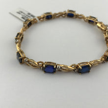 Diamonds & Sapphires in 14K Yellow Gold
