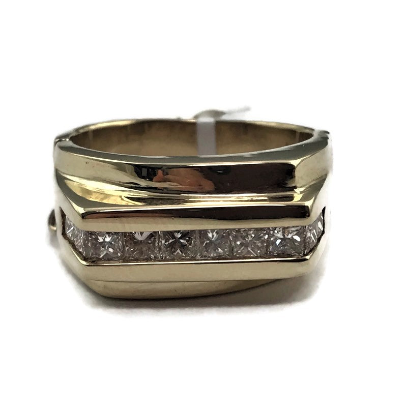 Men's Solid 14KY Gold 1/2CT Diamond Anniversary Wedding Band Ring