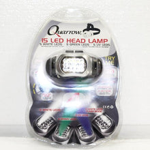 Quarrow 5081 15 LED Head Lamp, White, Green and UV LEDs, this is Pre-Owned Item #5081