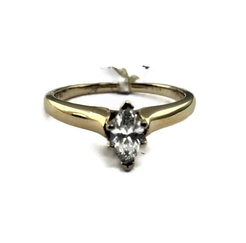 .46CT Marquise Cut Diamond Solitaire Engagement Ring in 14K Yellow Gold