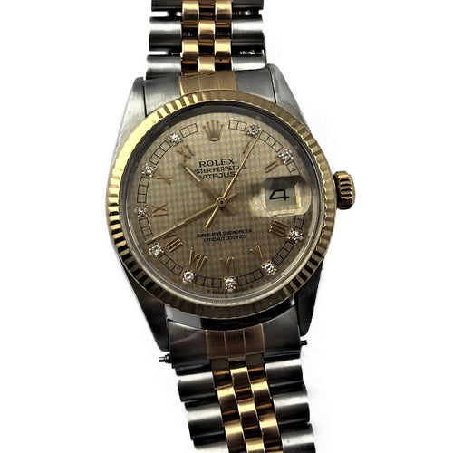 1987 Rolex Oyster Perpetual Datejust Ref. 16013 Diamond Dial Men's Automatic Watch, Pre-owned item #332951