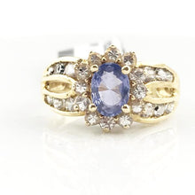 14K Yellow Gold Tanzanite & White Sapphire Ring 3.2g, Sz.6.25, Pre-owned item #341895D