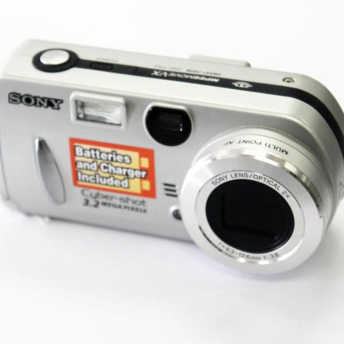 Sony DSCP52 Cyber-shot 3.2MP Digital Camera w/2x Optical Zoom, this is Pre-Owned Item #262481.sa