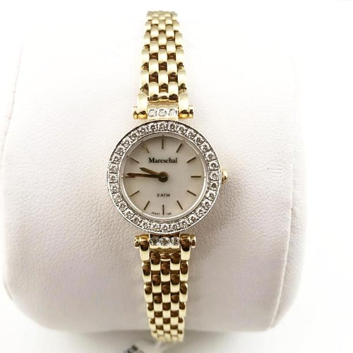 Mareschal 14K Yellow Gold Ladies' Round 0.50CT Diamond Watch 37.2g, 20cm New item #a1447y-mop