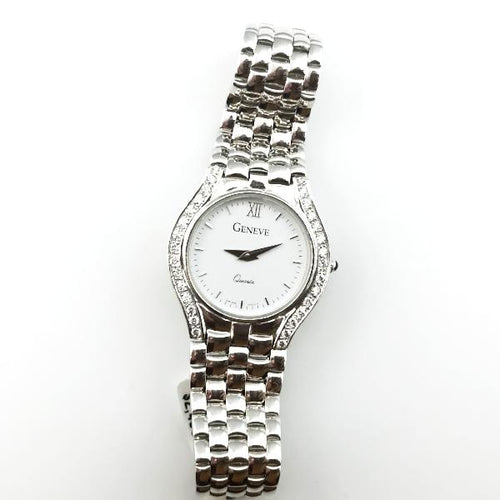 Geneve White Gold 0.50CT Diamond Quartz Watch