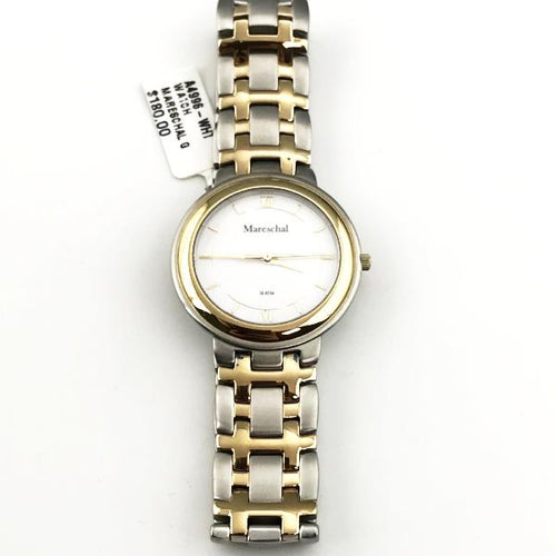 Mareschal G Two-Tone Watch, New item #a4996-wht