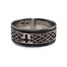 Ladies Sterling Silver Cross Weave Band Ring