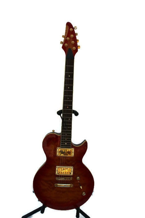 Brian Moore i2000 series i2 Tobacco Sunburst Quilt top Guitar W/CASE, this is Pre-Owned Item #343801