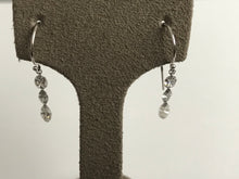 1.33Ct Diamond 3-Stone Journey Dangle Drop Earrings in 14KW Gold & Platinum, New item  #sv133