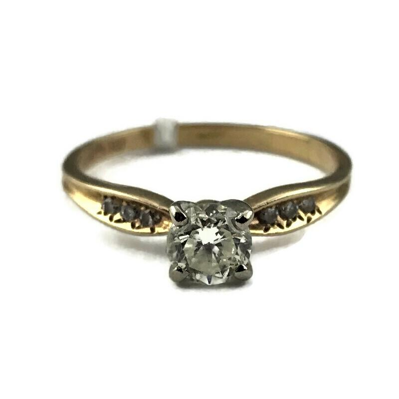 14K Yellow Gold .48CT Diamond Engagement Ring