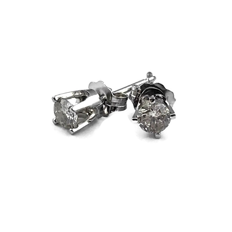 .39 CT Diamond Stud Earrings in 14K White Gold