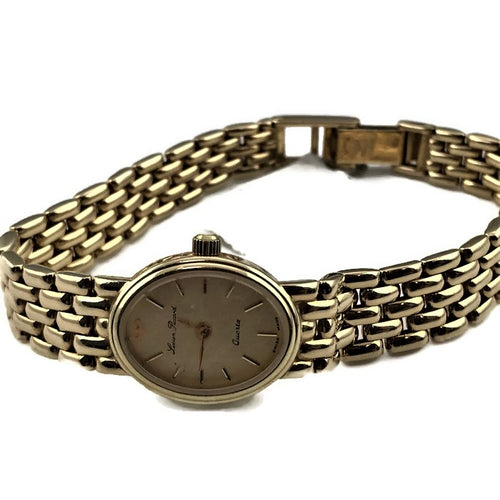 Lucien Piccard Solid 14K Yellow Gold Ladies Quartz Watch 24868