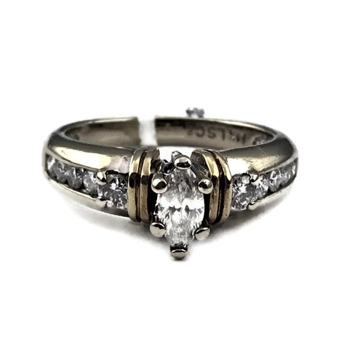 LSC Leo Schachter Ladies Diamond Engagement Ring in 14K Two-tone, Pre-owned item, #302267B