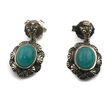 Colore Sg Sterling Silver Amazonite Earrings, New item  #E479-aza