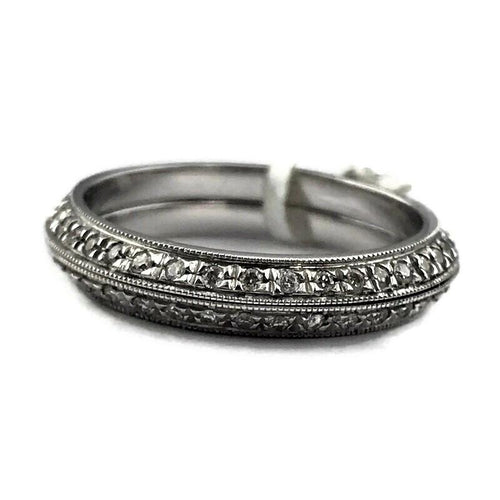 Parade Design Diamond Wedding Eternity Band Ring in 18K White Gold