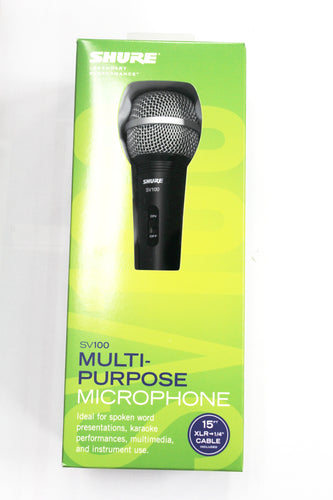 Shure SV100-W-U Multi-Purpose Microphone with Cable, this is Pre-Owned Item #Sv100-w-u