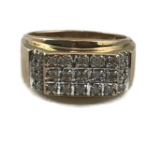 Mens 10KY Gold Diamond Ring 5.4g, Sz. 10.5, Pre-owned item #275947a