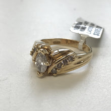 GD Marquise Cut Diamond Ring in 14k Yellow Gold
