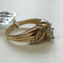GD 0.40CT Marquise Cut Diamond Ring in 14k Yellow Gold, Pre-owned item #168768a