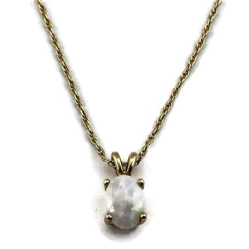 Opal Necklace in 14KY Gold, Pre-owned item #283164B