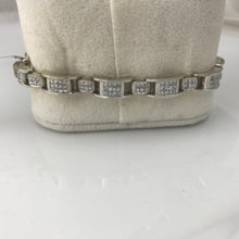 "14K White Gold 5CT Diamond Ladies 7"" 26.6 Grams Bracelet Pre-Owned #245065"