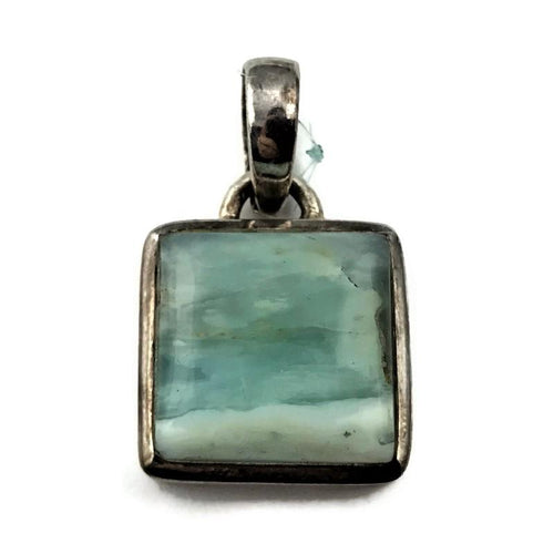 Sterling Silver Pendant With Green Stone