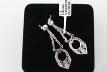 Platinum Diamond & Sapphire Earrings, New item #217