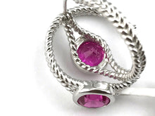 Colore Sg Sterling Silver  Pink Sapphire Earrings