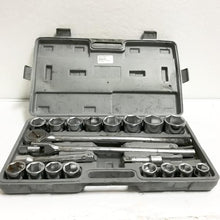 "21pc METRIC 3/4"" Drive Socket Wrench Set w/Storage Case, this is  Pre-Owned Item #314337C.SB"