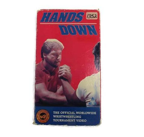VHS Hands Down 1987 wristwrestling Championship Video, this is Pre-Owned Item
