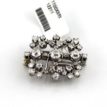 2.5 CT. TW.  Old Mine Cut Diamond Antique Pin Brooch Pendand in 14KW Gold