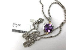 Colore Sg Sterling Silver, 18K Gold and Amethyst Pendant With Chain, New item #LZP275-AM
