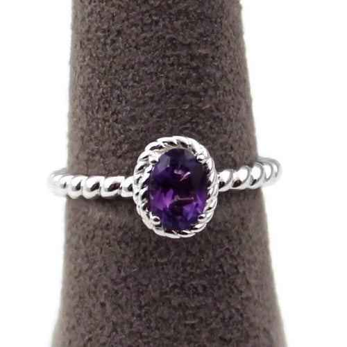 Amethyst Ring in Sterling Silver, New item #LVR708-AM