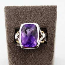 Colore Sg Sterling Silver, 18K Gold and Amethyst Ring ,New item #LZR282-AM