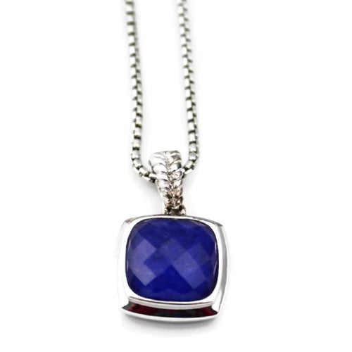 Colore Sg Sterling Silver Lapis & Quartz Colore Fusion Necklace, New Item #LVP515-FQLP