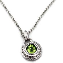 Colore Sg Sterling Silver Peridot Necklace, New item #LVP649-PE