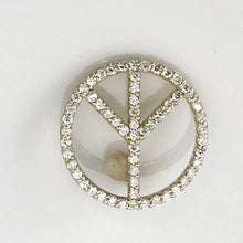 14K Yellow Gold Diamond Peace Sign Pendant charm, 15mm, 7dwt,  Pre-Owned item #320029b