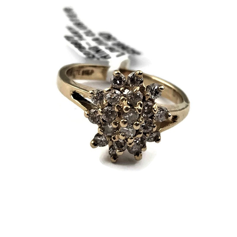 Diamond Cluster Ring in 14K Yellow