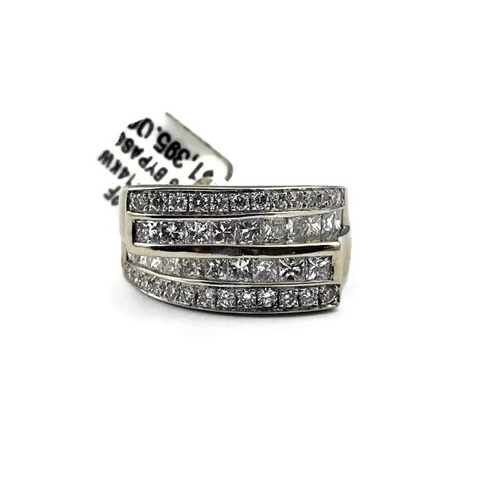 Bypass Diamond Band in 14K White Gold
