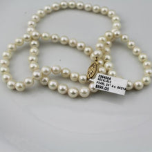 "Akoya White Pearl Necklace A+/w 14k yellow gold filigree clasp 18"" #296468A"