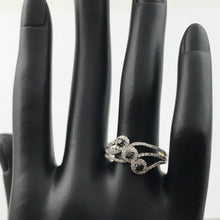 Ladies 925 Sterling Silver 3 RBC Black and 84 SC White 1/2 TTW Diamond Fashion Ring, New item #v57452