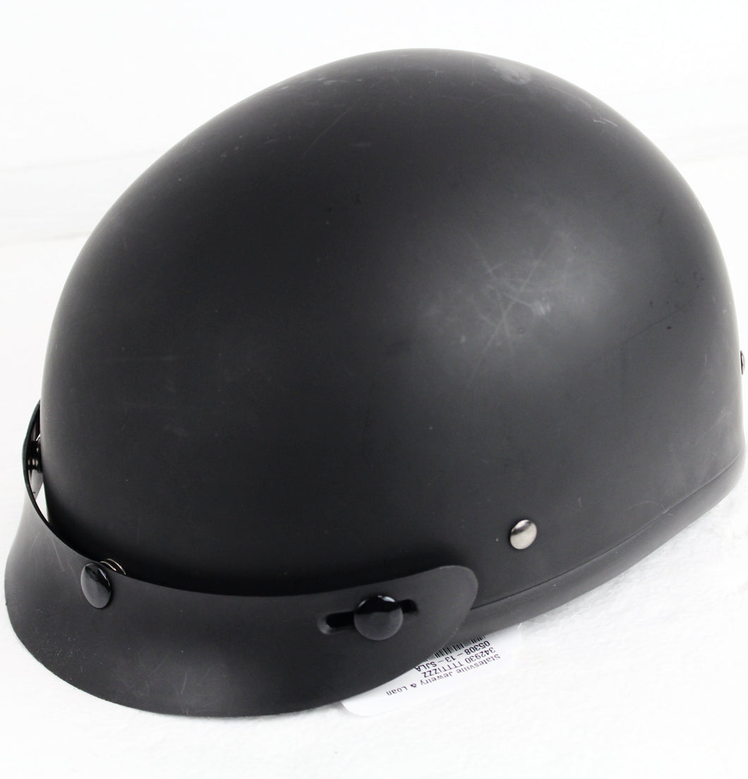 Daytona DOT Skull Cap Helmet with Visor - Flat Black (2XL Regular) #342930