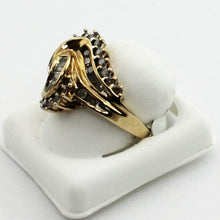 10K Yellow Gold Diamond Cocktail Ring sz. 7 Pre-Owned #296809