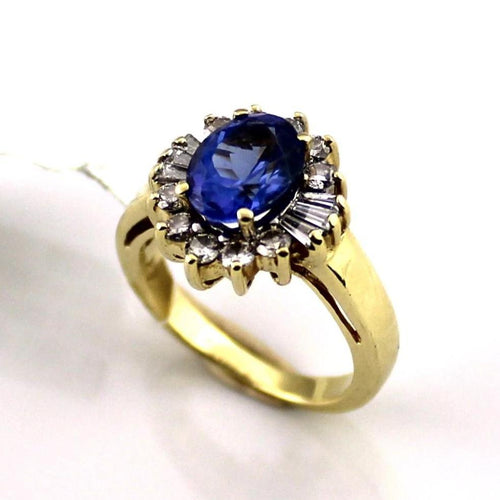Le Vian Central Tanzanite and Diamonds Engagement Ring in 18KY Gold #349120