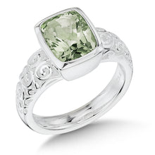 Colore Sg Sterling Silver Green Amethyst Ring