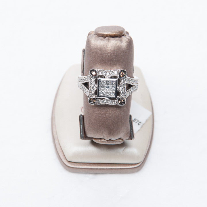 .87CT DIAMOND LADIES RING IN 14KW New #R3131 DEE