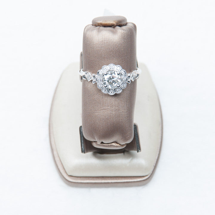 RING- 18KW .73CT RBC + .07CT SEMI, this is New Item #R9387/D65A